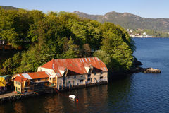 Old House at the Waterfront, Bergen, Norway Stock Images