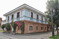 Old house of a wealthy family in the Philippines during the Spanish colonial era. Made of bricks and hardwood. This is an old house of the wealthy family in the Royalty Free Stock Photos