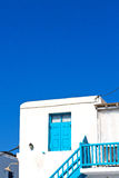 In  old house and white color. Isle of     greece antorini europe old house and white color Stock Photography