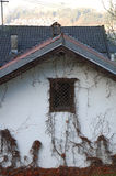 Old house white wall and roof Stock Photography