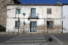 Old house whitewashed in the historic old town, Ubeda Royalty Free Stock Photo