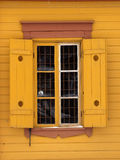 Old house window. Traditional Old house window from Scandinavia Royalty Free Stock Photo