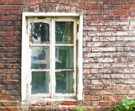 Old house window in the city. By day Stock Images