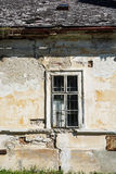 Old house with window. Close up of an old house with window Royalty Free Stock Photography