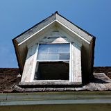 Old house window. With no glass Royalty Free Stock Photography