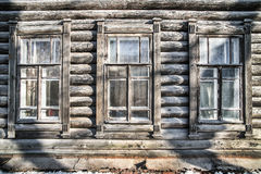 Old house with windows Royalty Free Stock Photos