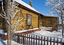 Old house in the winter. Royalty Free Stock Images