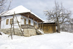 Old house in winter Stock Photography