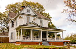Old House With Plants On Porch Royalty Free Stock Photo