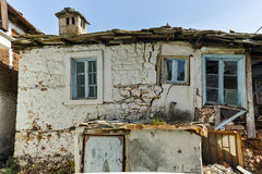 Old house and Wood centuries in village of Panagia, Thassos island, Greece Royalty Free Stock Photo