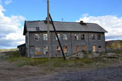 Old house. Old wood house in tundra Murmansk region Royalty Free Stock Images