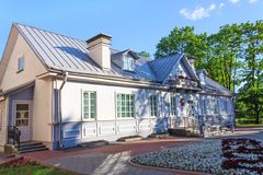 Old house of writer in Grodno Stock Photo