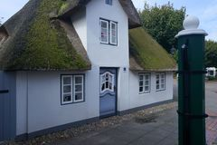 Old House in Wyk on Foehr Island. Foehr or Föhr is one of the North Frisian Islands on the German North Sea coast. It is located in the federal state of Royalty Free Stock Images