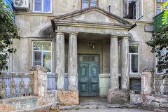 Old house. YEYSK.RUSSIA-11 September 2015: the Old house with columns in the centre of the city Stock Images
