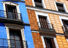 Old houses. In Madrid, Spain royalty free stock photo