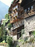 Old Houses. The most beautiful houses in Austria / Hallstatt you have ever seen Stock Images