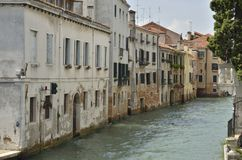 Old houses along a canal Royalty Free Stock Images