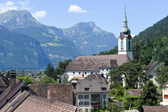 Old houses at Altdorf in the Canton of Uri Stock Photography