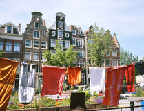 Old Houses in Amsterdam Royalty Free Stock Photography
