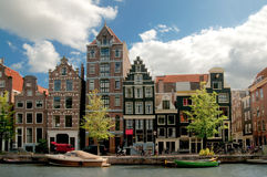Old houses in Amsterdam stock photo