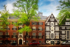 Old houses in Amsterdam Royalty Free Stock Image