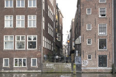 Old houses in Amsterdam. Stock Photos