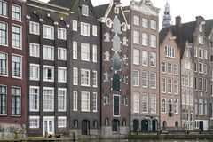 Old houses in Amsterdam. Stock Photo