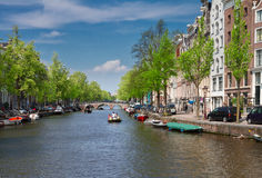 Old houses in Amsterdam Stock Images