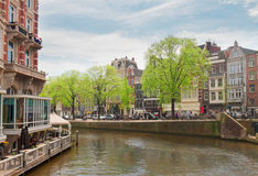 Old houses in Amsterdam Royalty Free Stock Images