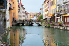 Old houses of Annecy Stock Image