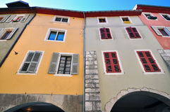 Old houses of Annecy city Stock Image