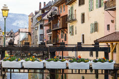 Old houses in Annecy, France Royalty Free Stock Photo