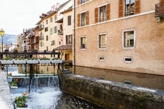 Old houses in Annecy, France Stock Image
