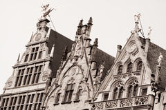 Old houses in Antwerpen Stock Photo