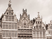 Old houses in Antwerpen Royalty Free Stock Photography
