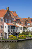 Old houses around the harbor in Enkhuizen Stock Photo