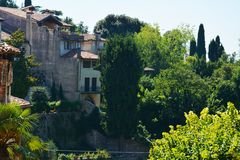 Old houses in Asolo, Italy Stock Photo