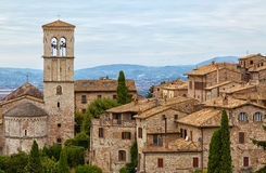 Old houses in Assisi Stock Images