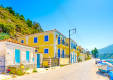 Old Houses by the beach Royalty Free Stock Image