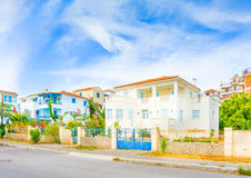 Old Houses by the beach Royalty Free Stock Photo