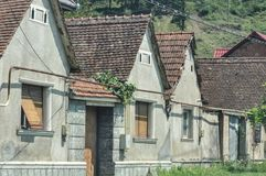 Old houses. Beautiful houses from a village in east europe royalty free stock image