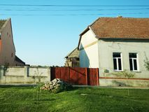 Old houses. Beautiful houses from a village in east europe royalty free stock photography