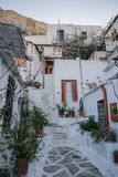 Old houses below Acropolis. In Athens, Greece royalty free stock image