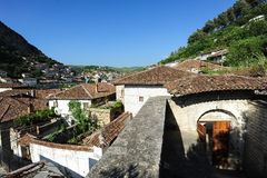 The old houses of Berat on Albania Stock Images
