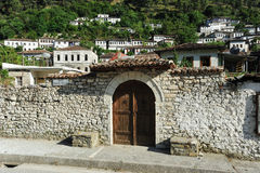 The old houses of Berat on Albania Stock Photo