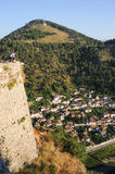 The old houses of Berat on Albania Royalty Free Stock Image