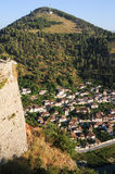 The old houses of Berat on Albania Royalty Free Stock Photography