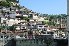 The old houses of Berat on Albania. Unesco world heritage royalty free stock image