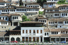 The old houses of Berat on Albania Royalty Free Stock Photo
