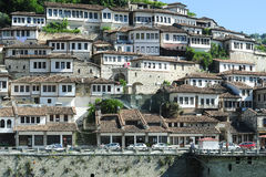 The old houses of Berat on Albania Royalty Free Stock Photos